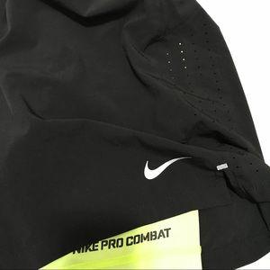 NIKE DRI FIT PRO COMBAT medium black yellow shorts